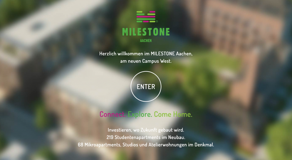 webViewer360, Milestone Aachen 1886, Studentencampus - Fix Visuals
