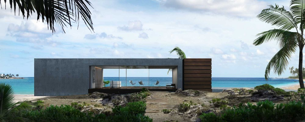 Visualisierungen Beach House, Bahamas - Case Study - Fix Visuals